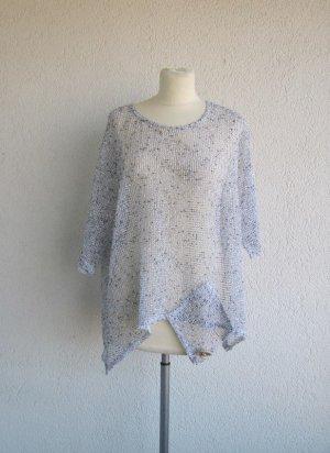 Tunic white-light blue mixture fibre