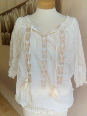 Tom Tailor Denim Tunique-blouse blanc cassé