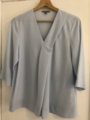 COS Tunic Blouse baby blue copper rayon