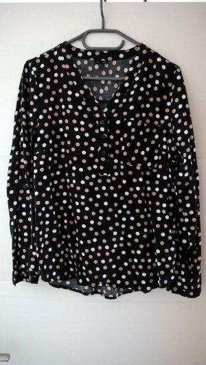 Tunique-blouse noir-blanc