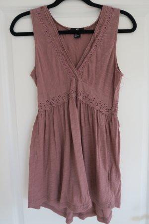 Tunika-Bluse in schönem rosenholzton H&M Gr. 36
