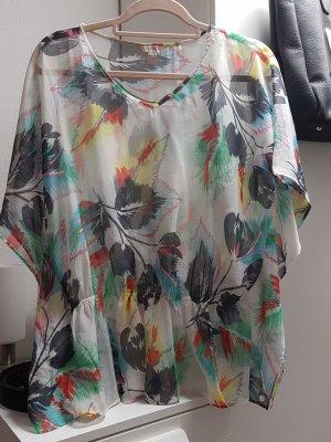 Tunika Bluse mit Gummizug in der Taille