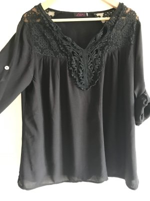 Blusa de túnica negro