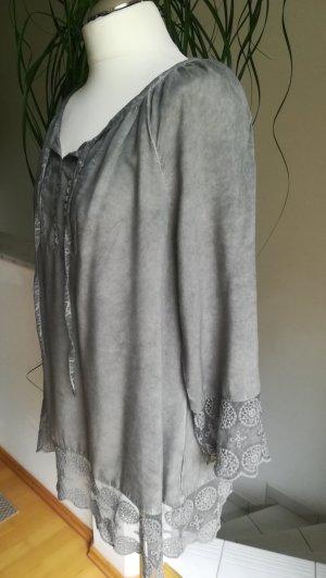 Tunika-Bluse mit Spitze Gr. M (40/42)