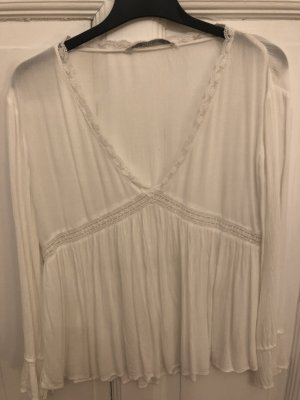 Zara Tunique-blouse blanc