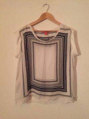 Tunika / Bluse schwarz weiß