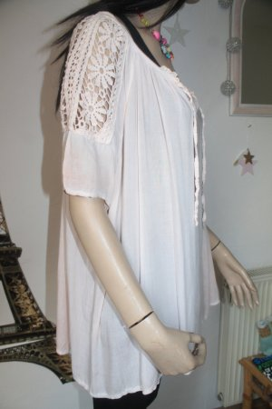 Tunique-blouse abricot-rose chair