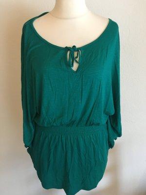 Tunika Bluse Strandkleid Longshirt grün Gr. 38