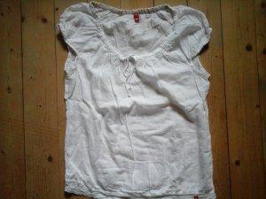 Tunika Bluse von EDC by Esprit Gr. XL weiss Puffärmel