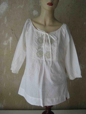 edc by Esprit Tunic Blouse white-cream cotton