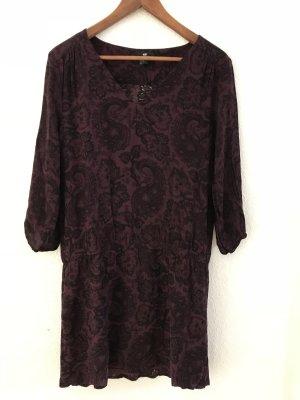 H&M Hemdtuniek zwart-bruin-paars