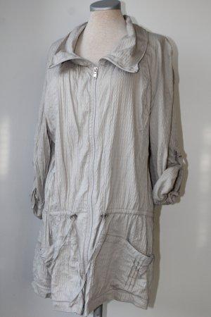 Tunika Cecil Gr. 44/46 XXL sportlich lässig graugrün hellkurzarm Jacke