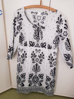 Tunic white-black