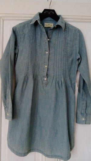Tunika Denim&Supply Ralph Lauren XS 34 NEU Hemd Bluse Top Blau langarm Hemdkleid