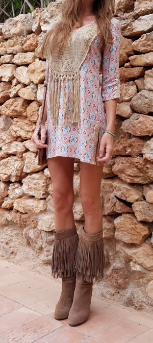 Tunika dress Kleid Sommer Häkel ibiza boho hippie coachella Festival