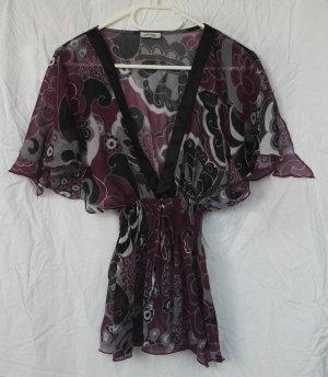 Tunique-blouse noir-violet