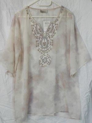 Tunique-blouse crème-blanc cassé