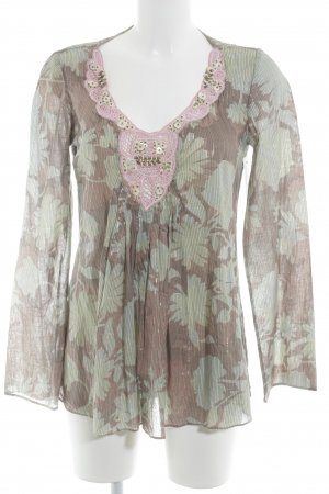Tunic floral pattern romantic style