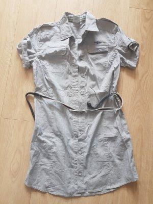 Aeronautica Militare Camisa de manga corta gris claro