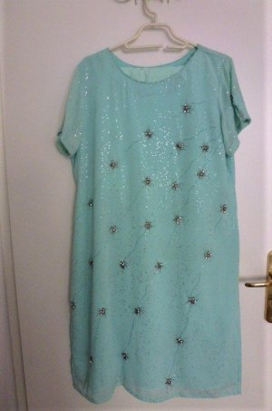 Tunic Dress turquoise-silver-colored