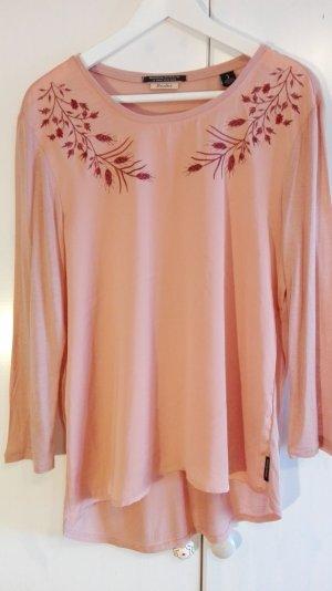 Tunika in zart rose, Seidenoptik, L, bestickt -Am 30. April schließe ich meinen Kleiderschrank!!!