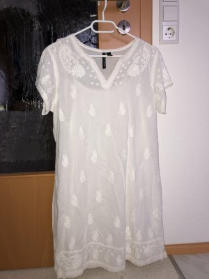Mango Suit Vestido tipo túnica blanco