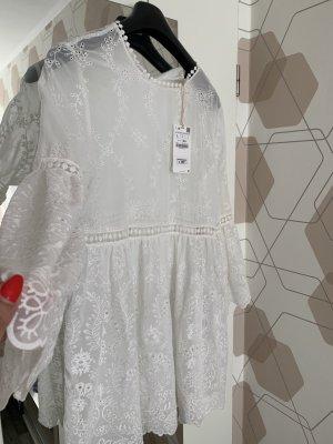 Zara Robe tunique blanc