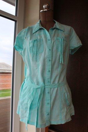 Tunika / Kleid aus Leinen in türkis von Street One - super Zustand