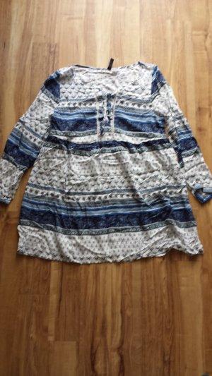 Tunika Kleid blau weiß