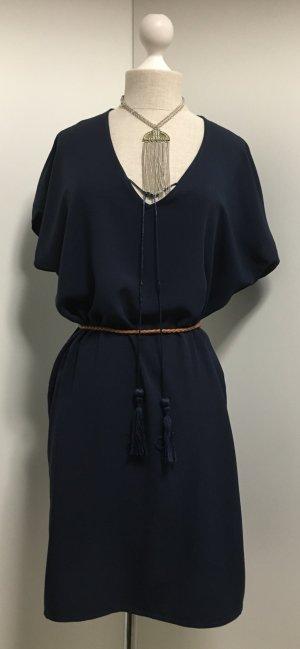 Tunic Dress dark blue viscose