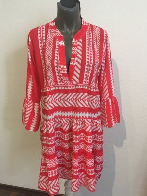 0039 Italy Tunic Dress red-white