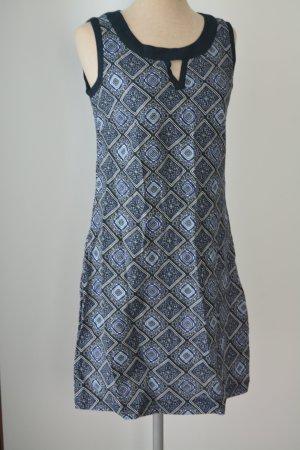 Tunika Kleid Gr. 36 S Sommerkleid Minikleid kurz blau ethno cutout ärmellos