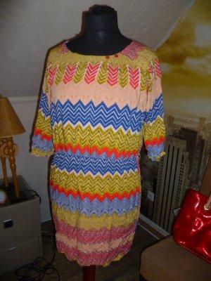 Tunika Kleid Gr 38-40 zauberhaft mit pinkem Unterkleid edel