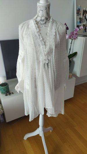 Tunika Kleid Gr M/L weiß neu
