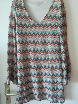 """Tunika Kleid, leuchtende Meeresfarben """"a la Missoni"""" von AMISU, sehr weich"""