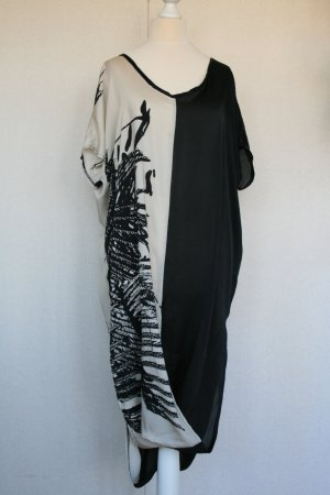 Tunic Dress white-black viscose