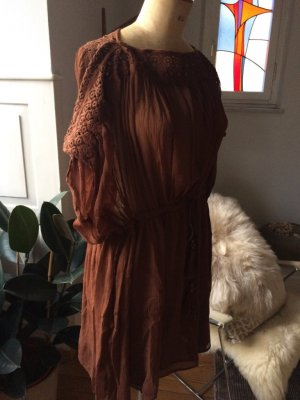 Tunika, Kleid, Longbluse mit Stickerein, Gr. S, NEU