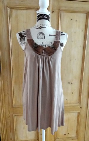 Tunika, Kleid - mit Pailletten & Nietenbesatz - Gr. M - Minneola/Conleys