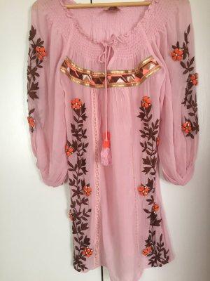 Strandkleding roze Zijde