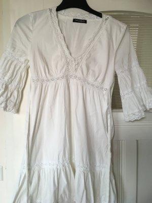 Tunika Kleid weiß Sommer