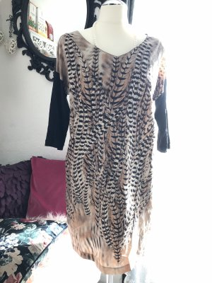 Tunika Kleid Zara gr M Feder Print