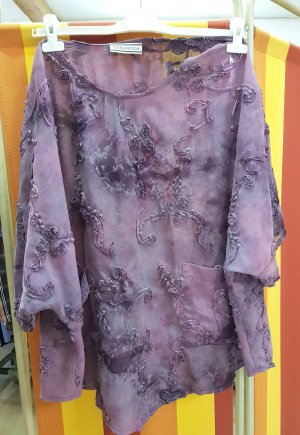 Turbulence Tunic Blouse mauve-grey lilac