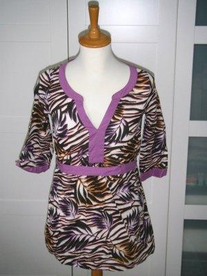 Tunika, kurzes Kleid, Strandkleid, Strandtunika, bunt, Muster, Gr. 34, H&M