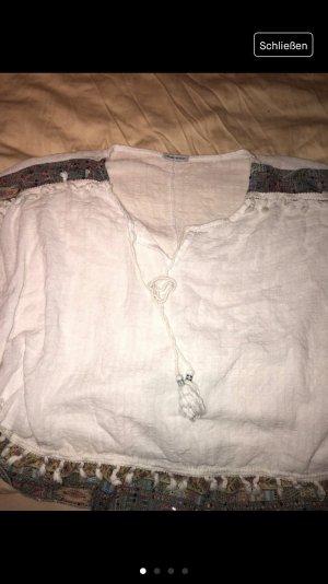 Lederen blouse wit