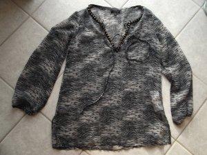 Amisu Strandkleding zwart-zilver