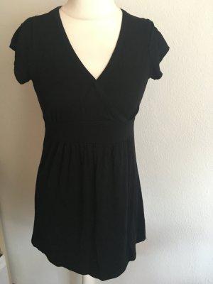 Tunika Longshirt Babydoll schwarz weich locker Gr. 36