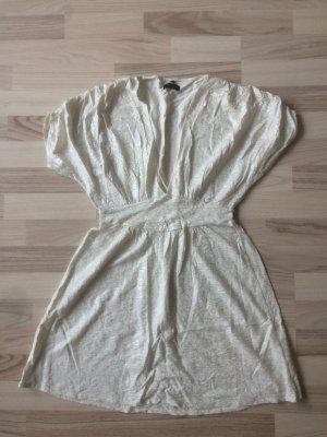 Tunika, Longtop, Kleidchen gr.S Creme/Silber
