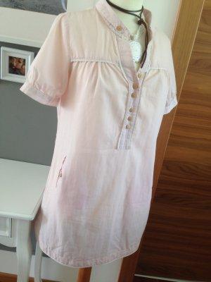 Tunika Minikleid Vintage nude/zartrosa mit Häkelspitze kastiger Schnitt