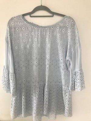 Tunique-blouse bleu azur