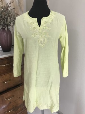Robe tunique vert pâle